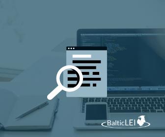 Baltic LEI - LEI koodi uuendamine